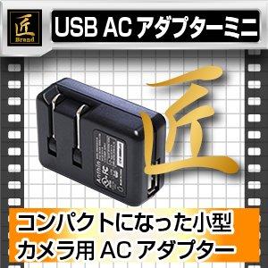 ACアダプター ミニ5V1000mA USB (匠ブランド)小型カメラ用