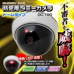 【ダミーカメラ】防犯用ダミーカメラ(ドームタイプ)DC-100