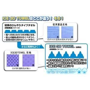 ひんやりタオル(ICE 3Dタオル) Lサイズ イエロー