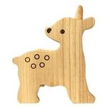 「木のおもちゃ ウッディプッディ」動物おやこ(シカ)イス