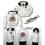 ed hardy(エドハーディー) ジャケット down love kills puff jacket womens 白 M