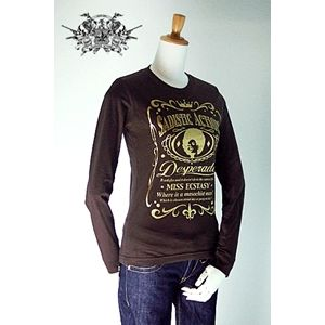 sadistic action(サディスティック・アクション) ロングTシャツ l stee women brown S