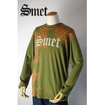 smet(スメット) long tee flagskull(men's) green Sの詳細ページへ