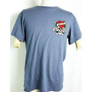 ed hardy(エドハーディー) メンズTシャツ Basic LOVE KILLS SLOWLY ブルー M