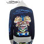 ed hardy(エドハーディー) パーカー men's platinum all over multi hoodie black S