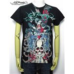 ed hardy(エドハーディー) メンズTシャツ Skull Dagger & Blue Tigers Black S