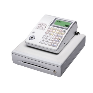 カシオ レジスター TE-300 ホワイト【ロールペーパー20巻、PC接続ケーブルパターンBセット】