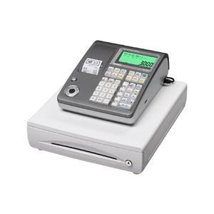 カシオ レジスター TE-300 シルバー【ロールペーパー20巻、PC接続ケーブルパターンBセット】