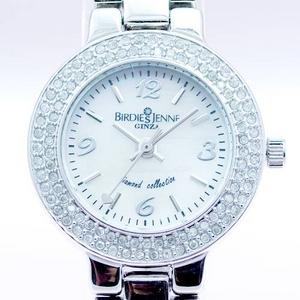 【無料ギフトラッピング】 ダイヤモンド100石 合計0.4カラット 「Birdies Jenne GINZA」 ジュエリーウォッチ ホワイト