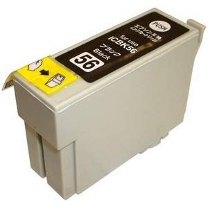 【EPSON対応】ICBK56 (ICチップ付)互換インクカートリッジ ブラック 【5個セット】