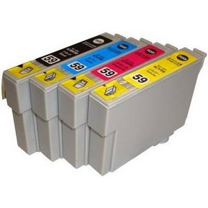 【EPSON対応】IC59-BK/C/M/Y (ICチップ付)互換インクカートリッジ 4色パック 【2セット】