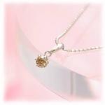 シャンパンカラーダイヤモンド0.1ct ペンダントの詳細ページへ