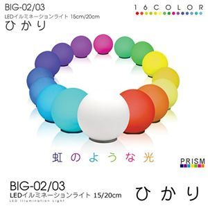PRISM(プリズム) LEDイルミネーションライト 15cm ひかり BIG-02