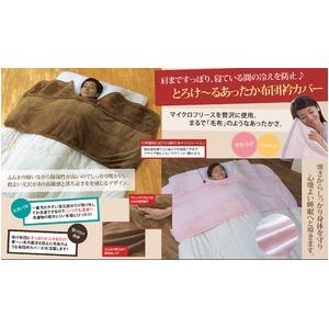 とろけ〜る 毛布のような布団衿カバー キャメル