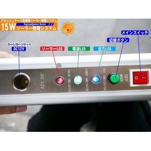 15W携帯充電ソーラー発電(システムアタッシュケース型)NK-AS150【電丸】