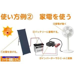 30Wソーラーパネル発電システム 2枚セット【NK-PS30】【電丸】