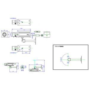 コロナ電業 バリフォーカルレンズ採用カラーCCDカメラ シルバー TR-1300C