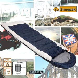 《Snugpak スナッグパック》 THE NAVIGATOR ナビゲーター キャンピング寝袋(シュラフ)【ネイビー/ホワイト】