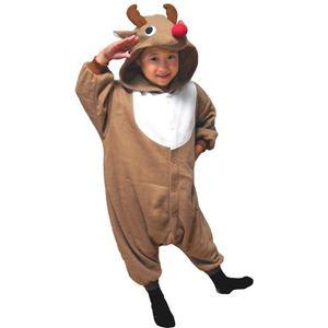 【クリスマスコスプレ】サザック フリーストナカイ着ぐるみ 子供用 BE・95cm 2758E