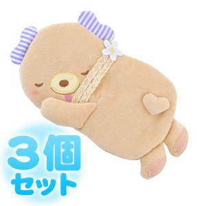 ふんわりCool Heartful Bear(ハートフル ベアー) ひんやり抱きまくら 【3個セット】