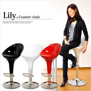 デザイン・カウンターチェア Lily(リリー) ブラック