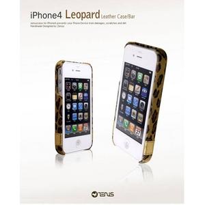 ◆iPhone4S / iPhone4 対応ケース◆ Leopard Bar●ラムスキン●