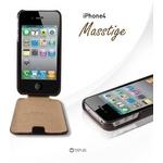 iPhone4S / iPhone4 対応ケース 高級感UP! Masstige Forder Black Choco