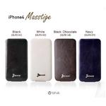 iPhone4/4S 対応ケース 高級感UP! Masstige Forder Navy