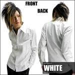 Luxury Black(ラグジュアリーブラック) ドレスタックシャツ WHT(ホワイト) Mサイズ