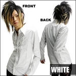 Luxury Black(ラグジュアリーブラック) ドレスレースシャツ WHT(ホワイト) Mサイズ