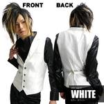 Luxury Black(ラグジュアリーブラック) ノッチ衿シャイニードレスジレ WHT(ホワイト) Mサイズの詳細ページへ