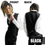 Luxury Black(ラグジュアリーブラック) ノッチ衿シャイニードレスジレ BLK(ブラック) Mサイズの詳細ページへ
