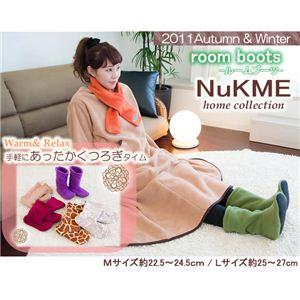 NuKME(ヌックミィ) 2011年Ver ルームブーツ Mサイズ スノー柄 ベージュ