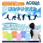 AQUA〜SUPER COOL TOWEL(スーパー クール タオル) Lサイズ ターコイズ 2色セット
