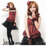 コスプレ 2011新作 赤チェックの可愛いドレス コスチューム