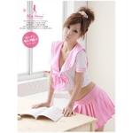 可愛いピンクセーラースクールコスチューム3点セット/コスプレ f016
