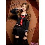 セーラー服 制服 女子高生 長袖 赤 黒  コスプレ 衣装 コスチューム z1184