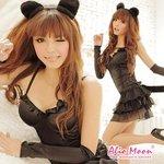 黒猫ちゃんコスチューム豪華5点セット/コスプレ/コスチューム/コスプレ衣装/衣装/黒/f116