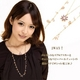 Vajra(ヴァジュラ) 2WAY♪スワロフスキーフラワー♪2連ネックレス♪ 【日本製】
