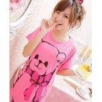 LeLeStyle(レレスタイル) キュートなくまのぬいぐるみ☆ピンクワンピシャツ