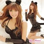 コスプレ 黒猫ちゃんコスチューム豪華5点セット f116