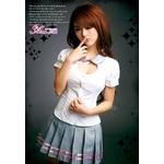 2011新作 胸元セクシー女子高生制服セット コスプレ コスチューム