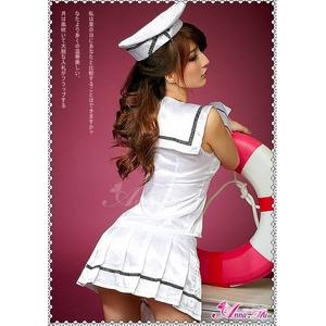 2012新作 帽子付キュートセーラー服コスチューム5点セット/制服コスプレ コスチューム z624