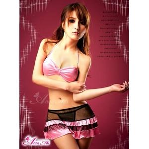 2012新作 黒×ピンク セクシーランジェリー3点セット/コスプレ コスチューム z655