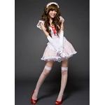 コスプレ 白×赤水玉の可愛いメイドさんセット C412