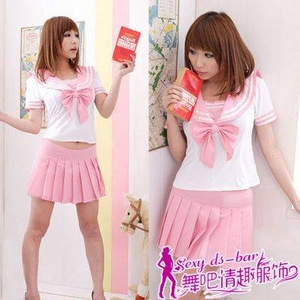 コスプレ 女子高生ミニスカセーラー服 ピンク C45