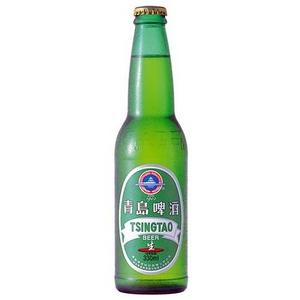 中国【海外ビール】 チンタオ・レギュラー 330ml×24本(1ケース)