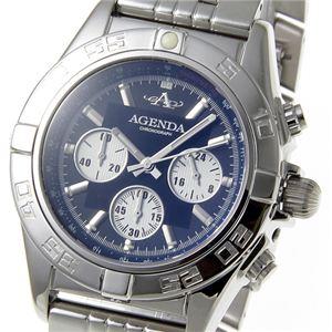 AGENDA(アジェンダ) 腕時計 10気圧防水 クロノグラフ ウォッチ AG-8045-02 ブラック