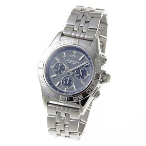 AGENDA(アジェンダ) 10気圧防水 紳士 クロノグラフ 腕時計 AG-8045-04 グレー