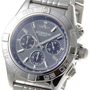 AGENDA(アジェンダ) 腕時計 10気圧防水 クロノグラフ ウォッチ AG-8045-04 グレー